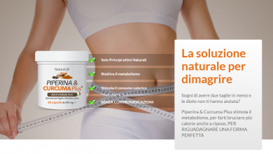 Natural Fit Piperina e Curcuma Plus